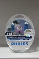 "Лампа H4 12V 60/55W [4300K] CrystalVision ""Philips"" (компл.4 шт)"